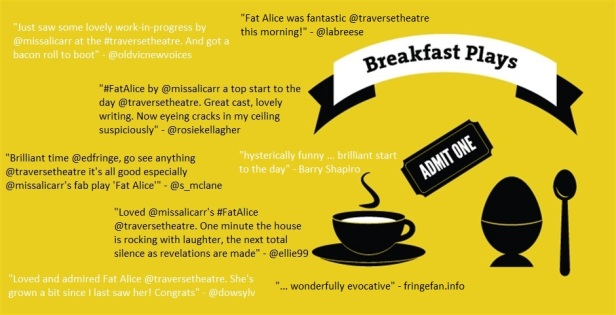 Breakfast Plays - audience comments