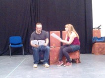 A poor quality rehearsal photo (Keith & Meg)