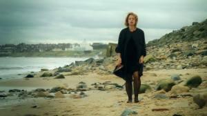 Julie on sand WB