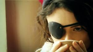 Ruby drinking tea WB